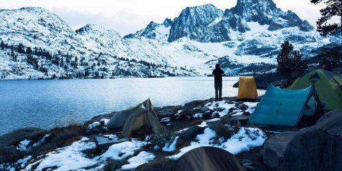 Campen im Winterwunderland
